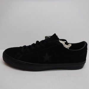 8ab10db5bbc6 Converse Size 11.5 Black Leather Sneakers New Mens